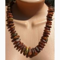 Роскошное длинное янтарное ожерелье в винтажном стиле, бусы из натурального янтаря
