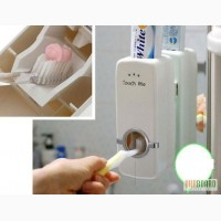 Набір для ванної кімнати: дозатор зубної пасти Toothpaste Dispenser і утримувач для щіток