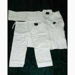 Кимоно для дзюдо, карате, джиу-дитсу, тхеквондо, белое, черное, синее