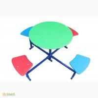 Столик для детской площадки, четырехместный