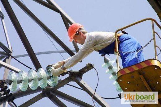 монтаж демонтаж опор для воздушных линий электропередачи напряжением