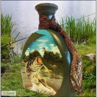 Подарочная бутылка Клевого клева, подарок рыбаку, сувенир для рыбака