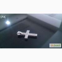 Продам эксклюзивный кулон крестик с 16-ю бриллиантами