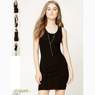 Forever 21 трикотажное приталенное платье летнее черное S