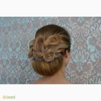 Прически свадебные и вечерние, плетение кос