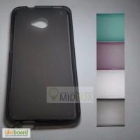 Полупрозрачный силиконовый чехол для HTC One M7 Dual Sim 802w, 802d
