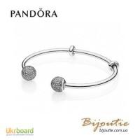 Pandora браслет Открытый браслет-бангл MOMENTS 596438CZ
