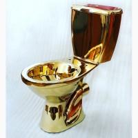 Унитаз под золото купить в Киеве с доставкой по Украине, цена, сантехника золотого цвета