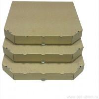 Коробка для пиццы 330х330х40 бурая