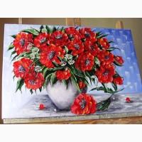 Картина маслом Маки 40х60
