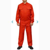 Спецодежда рабочая куртка и полукомбинезон Грета красный
