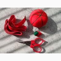 Сантиметровая лента (сантиметр) швейная, ножницы, игольница