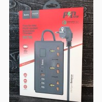 Сетевой фильтр с поддержкой быстрй зарядк 18 W HOCO DC15 2-in-1 Multi-socket 4USB/