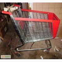 Тележка для супермаркета 100л. Европа б/у Цвет красный
