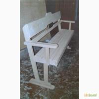 Скамейка для дачи, лавка деревянная, садовая лавочка, скамья со спинкой