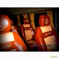 Перетяжка ремонт обшивка салона сидений автобуса микроавтобуса