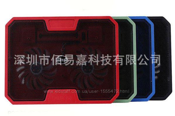 Фото 11. Подставка для ноутбука кулер Cooler до 17, 4 дюйма Подставка для ноутбука кулер с подсветк