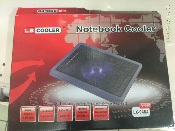 Фото 2. Подставка для ноутбука кулер Cooler до 17, 4 дюйма Подставка для ноутбука кулер с подсветк