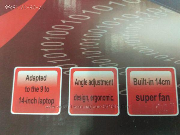 Фото 4. Подставка для ноутбука кулер Cooler до 17, 4 дюйма Подставка для ноутбука кулер с подсветк