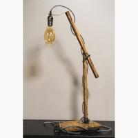 Настольная лампа PrideJoy из натурального дерева