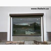 Панорманое окно из алюминия. Двери-гармошка