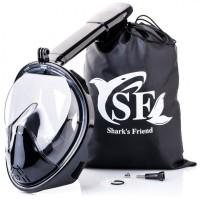 Полнолицевая маска для подводного плавания, снорклинга Shark s Friend