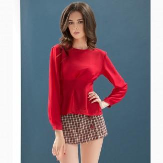 Женская шифоновая красная блузка от DZAN