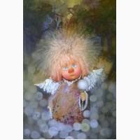 Картина на подарок в детскую комнату маслом на холсте, рама. Нежный мой ангел