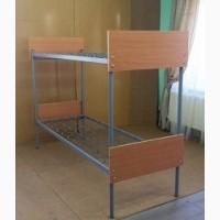 Кровать металлическая двухъярусная с быльцами ДСП, 190х70