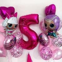 Шарики на день рождения ребенка заказать в Киеве. Шарики кукла лол Lol, шары Лол