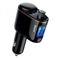 Авто зарядное устройство с FM-трансмиттером 2xUSB Baseus Locomotive Bluetooth MP3 Автом