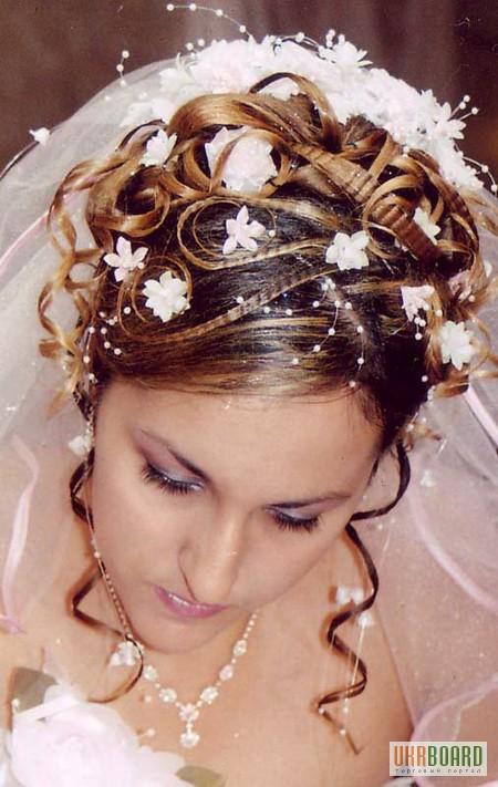 Фото 5. Свадебные, вечерние прически, плетение, визаж Харьков Холодная гора