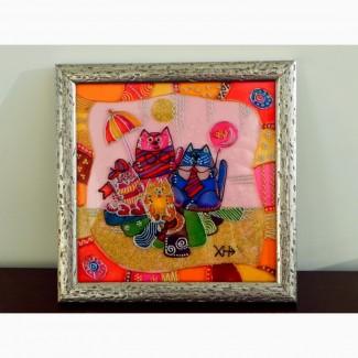 Витражная картина «Семейный праздник»