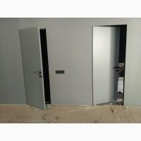 Межкомнатные двери с алюминиевой коробкой без наличника