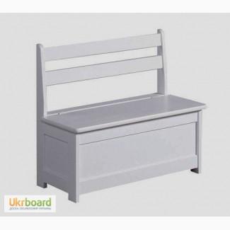 Лавка, скамья с ящиком для хранения, деревянная