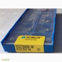 Твердосплавная пластина VCGT 160408-AK H-01, Korloy