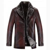 Продам кожаную куртку мужскую на меху новую