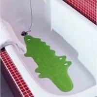 Коврик в ванну, крокодил зеленый, 33x90 см от Икеа