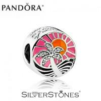 Скидки! Оригинал Pandora Пандора шарм бусина Закат в раю арт. 792116ENMX