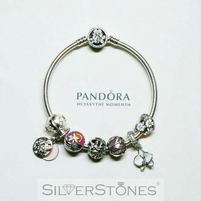 Фото 4. Оригинал Pandora Пандора шарм бусина Закат в раю арт. 792116ENMX