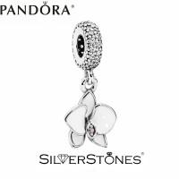 Оригинал Pandora Пандора шарм подвеска Белая орхидея арт. 791554EN12