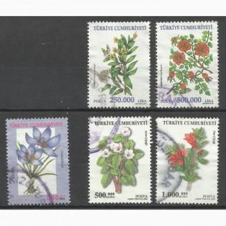 Продам марки Турции (Цветы)