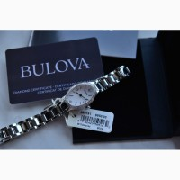 Суперцена !BULOVA :Женские часы с 60 натуральными бриллиантами сапфировое стекло