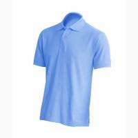 Мужская футболка поло, голубой цвет