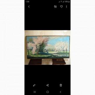 Картина маслом на холсте, антиквариат – 1969г. Ручная работа