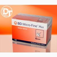 Иглы для шприц ручек BD Микро Файн Плюс 6 мм (Micro Fine Plus 6 мм)