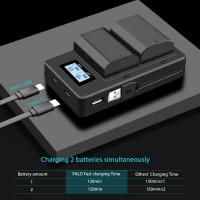 Зарядное устройство скоростное с LCD на два аккумулятора Sony FZ100