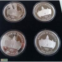 Набор из 4-х унцовых серебряных Новозеландских монет