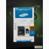 Карта памяти Micro SD SAMSUNG 64Gb 10 class + КАРТРИДЕР