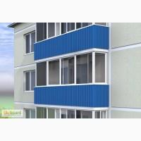 Монтаж балконных экранов